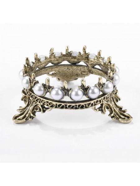 Подставка под кисти корона (чёрное золото)