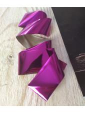Фольга для дизайна ногтей розовая