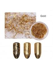 Хлопья для дизайна ногтей Galaxy Wow (золото)