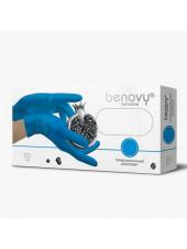 Перчатки термопластичный эластомер BENOVY, M, голубые, 200штук/100пар