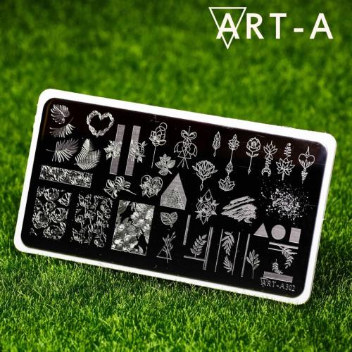 Пластина для стемпинга Art-A 302