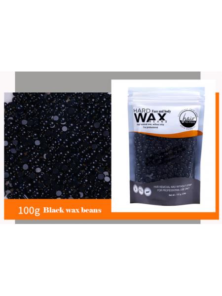 Воск для депиляции горячий (пленочный) Графит 100гр Hard Wax Beans