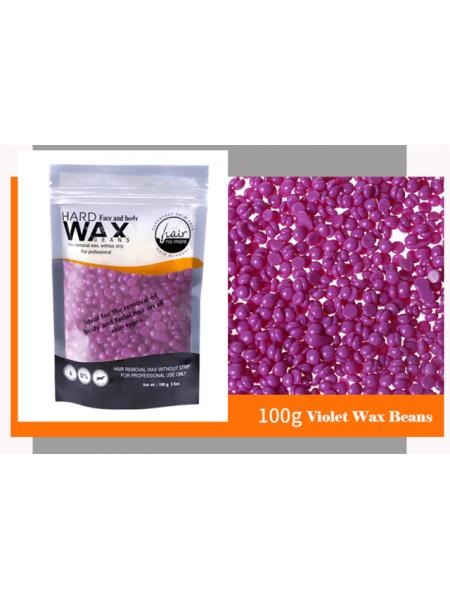 Воск для депиляции горячий (пленочный) Слива 100гр Hard Wax Beans