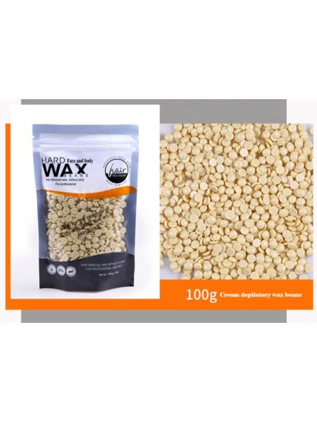 Воск для депиляции горячий (пленочный) Белый шоколад 100гр Hard Wax Beans