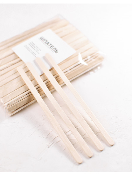Шпатель деревянный косметологический 140х6х2,3мм, упаковка 1 штука
