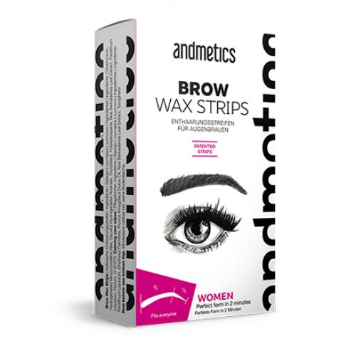 Набор восковых полосок для коррекции бровей WAX BROW STRIPS, CC Brow, 8 шт.