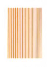 3D металлические наклейки полосы для дизайна ногтей (оранжевые)