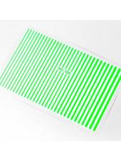 3D металлические наклейки полосы для дизайна ногтей (зелёные)