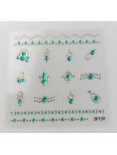 3D наклейки для дизайна ногтей №139