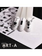 3D наклейки для дизайна ногтей 573