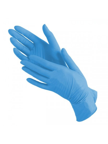 Перчатки нитриловые голубые mediOK, S 50 пар.